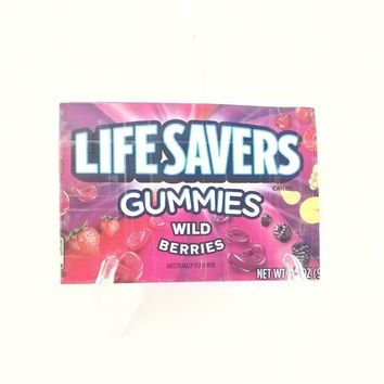 Small Purple Women's Wallet, Lifesavers Candy Card Wallet for Women