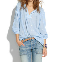 EMBROIDERED OPENVIEW TUNIC