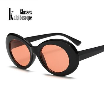 Kaleidoscope Glasses Kurt Cobain Glasses Men Clout Goggles Eyes Curt Cobain Sunglasses for Women Retro Round Eyeglasses