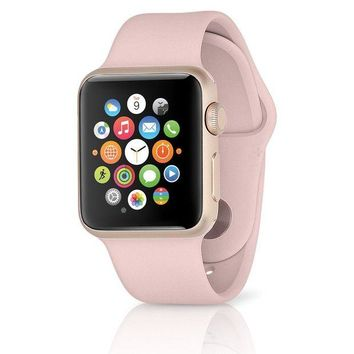 VONW3Q Apple Watch Sport Series 2 w/ 42mm Rose Gold Aluminum Case & Pink Sand Band MQ14