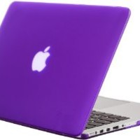 """Kuzy - Retina 13-Inch PURPLE Rubberized Hard Case Cover for Apple MacBook Pro 13.3"""" with Retina Display Models: A1502 and A1425 (NEWEST VERSION) - PURPLE: Amazon.ca: Electronics"""