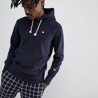 Champion Hoodie With Small Logo In Navy at asos.com
