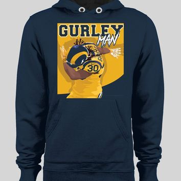 "LOS ANGELES RAM'S TODD GURLEY "" GURLEY MAN"" WINTER HOODIE/ SWEATER"