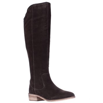 STEVEN by Steve Madden Emmery Tall Western Boots, Chocolate Brown, 6 US