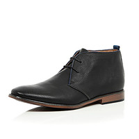 Black lace up chukka boots - chukka boots - shoes / boots - men