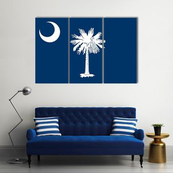 South Carolina State Flag Multi Panel Canvas Wall Art