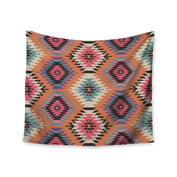 "Amanda Lane ""Southwestern Dreams"" Orange Pink Wall Tapestry"