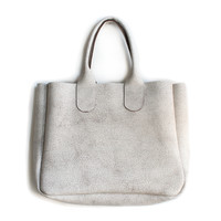rennes shop — Gretel Tote - Crackle White