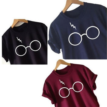 Women's Harry Potter T-shirt Lightning Glasses Shirt Tee High Quality Screen Print Super Soft Worldwide