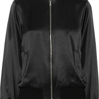 Adam Lippes - Silk-satin bomber jacket