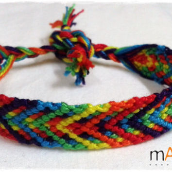 Rainbow Macrame Knotted Friendship Bracelet - Woven Wristband  - Support our Cause