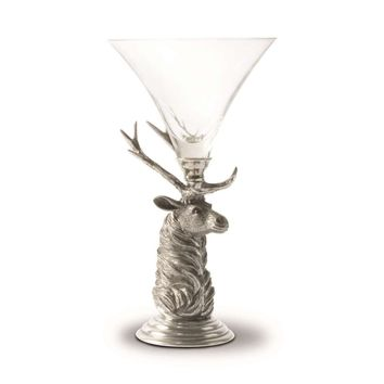 Elk Pewter Stem Cocktail Glass
