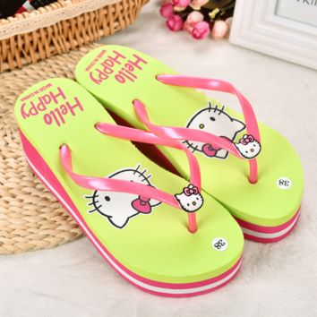 Stylish Design Beach Anti-skid Slippers Summer Home Ladies Cats Sandals [6034239681]