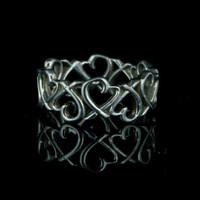 Rare Authentic Designer Tiffany & Co TCo Paloma Picasso Loving Heart Eternity Band Signature Ring Size 5.5
