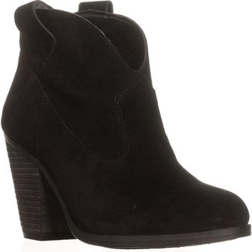 Vince Camuto Hadrien Ankle Booties, Black, 7.5 US / 37.5 EU