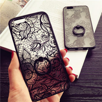 Exquisite lace relief mobile phone case for iPhone 6 6s 6plus 6s plus + Nice gift box!