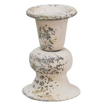 """Alette Cream Chippy 3"""" Candle Holder"""