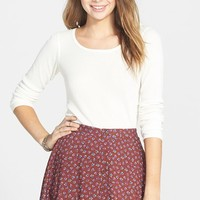 Junior Women's Lush Button Front Skater Skirt,