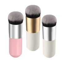 1Pcs 3Colors Flat Liquid Foundation Makeup Brushes Blush Buffer Powder Make up Brushes Beauty BB Cream Kabuki Contour Brush Tool