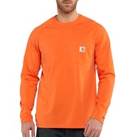 Carhartt | Men's Force Cotton Long Sleeve T Shirt | Shirts | Clemens Uniform | 100393