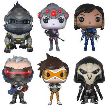 10cm TRACER & PHARAH & WIDOWMAKER & REAPER & SOLDIER 76 & WINSTON Model Collection Figure Toys