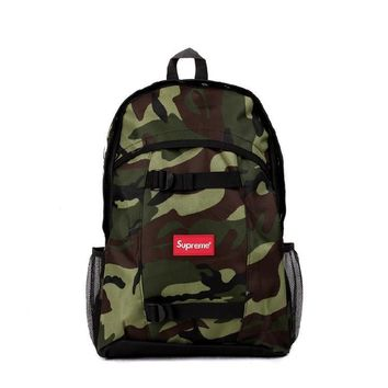 street fashion supreme Canvas Backpack Travel Bag College School Bag