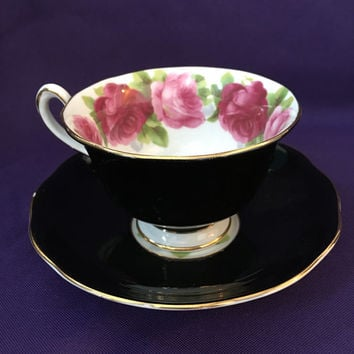 Royal Albert Tea Cup, Roses Teacup, Vintage Teacup and Saucer, Antique China