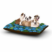 "Art Love Passion ""Blue Flower Field"" Beige Blue Dog Bed"