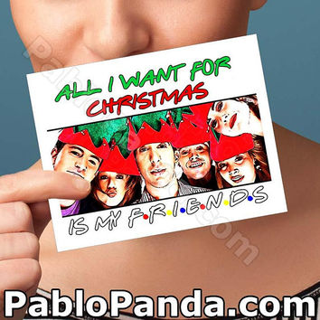 Christmas Cards | Friends Tv Show | Husband Gift Boyfriend Gift Birthday Cards Unique Christmas Gift For Dad Friends Fan Gift Funny Xmas Her