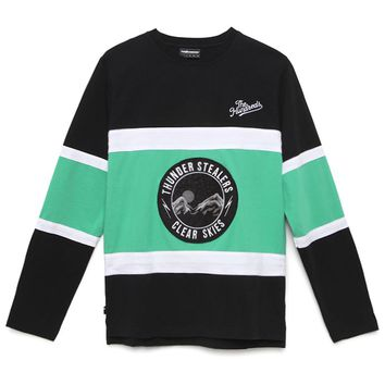 The Hundreds Ontario Long Sleeve Hockey Jersey - Mens Tee - Green