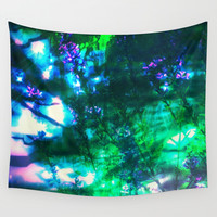 Wildflowers Goth Abstract Wall Tapestry by Minx267