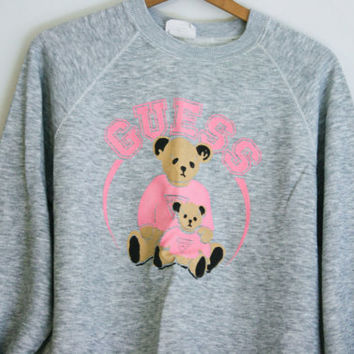 Vintage Guess Jeans Teddy Bear Sweatshirt