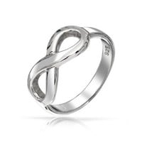 Bling Jewelry Figure 8 Infinity Symbol Sterling Silver Ring