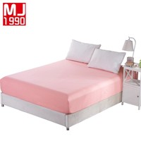 Mattress Cover Fitted Sheet Bedding Bed Sheet Bedding Solid Color Mattress Protector Cotton 9 Size Bed Highly 25CM Free Shipping