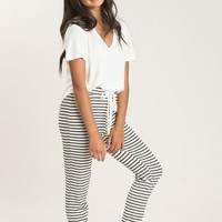 Tricia Black Stripe Lounge Pants