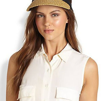 Eric Javits Women's Bradfield Hat One Size in Natural/Black