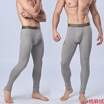 thick Winter Men Thickened Warm Pants Brushed Warm Pants Male Long Johns Thermal Underwear Mens Fashion Leggings 127