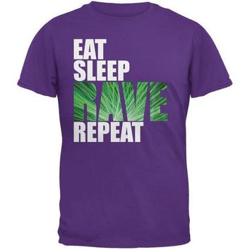 PEAPGQ9 Eat Sleep Rave Repeat Purple Adult T-Shirt