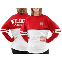 Arizona Wildcats Women's Varsity Sweeper Long Sleeve Jersey Top – Red