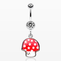 Adorable Mushroom Belly Ring