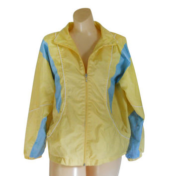 Petite Jacket Petite Clothing 90s Windbreaker Women Windbreaker Jacket Yellow Jacket Nylon Jacket Spring Jacket Wind Breaker Lightweight