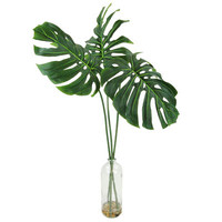 Philodendron Leaf's in a Chunky Glass Bottle Silk Plant