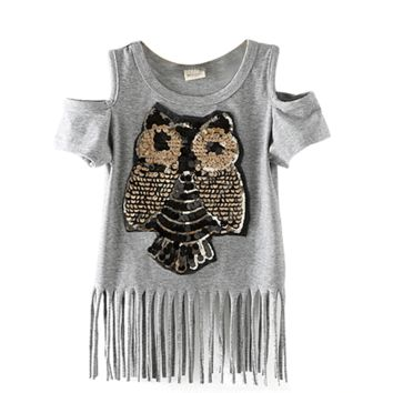 Cute Tops For Girls Sequin Shirt