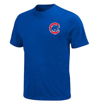 CHICAGO CUBS Majestic Cool Base Crew Neck SHIRT Officially Licensed MLB Baseball SIZE-YOUTH XL
