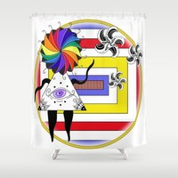 Greetings Shower Curtain by Fruit Of Phalanges | Society6