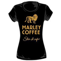 Bob Marley - Coffee Womens T-Shirt in Black