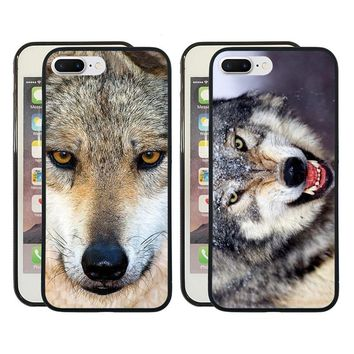 Animal Wolf phone cover case For iphone X/5s/6s/7/8 plus