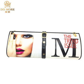 Hot selling women high quality magazine Day Clutches bag fashion women messenger bags PVC chain handbags   (large size)