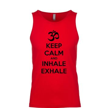 Keep Calm And Inhale Exhale (OM) Men's Tank