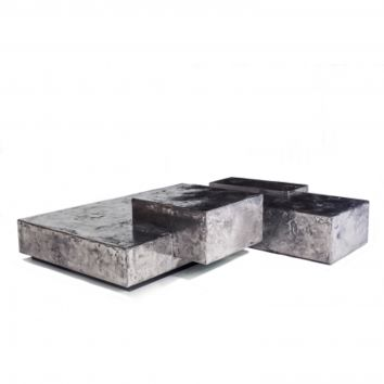 PEWTER LANDSCAPE LOW TABLE
